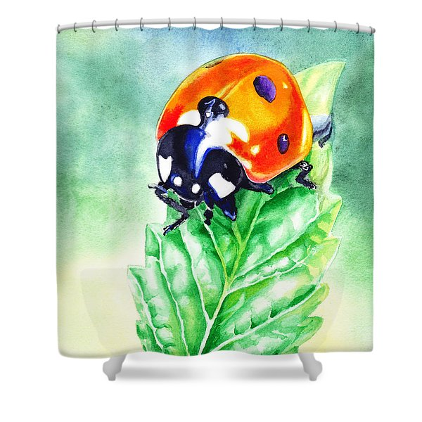 Ladybug Ladybug Where Is Your Home Shower Curtain