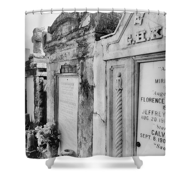 Lafayette Cemetery Black And White Shower Curtain