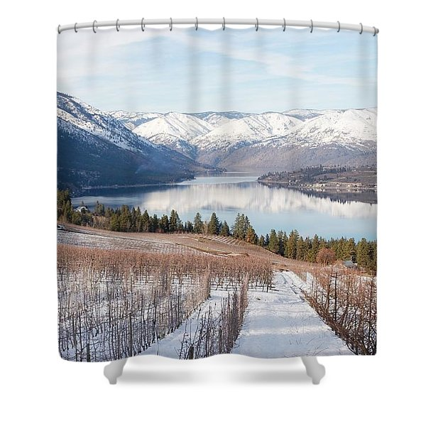 Lake Chelan In Winter Shower Curtain