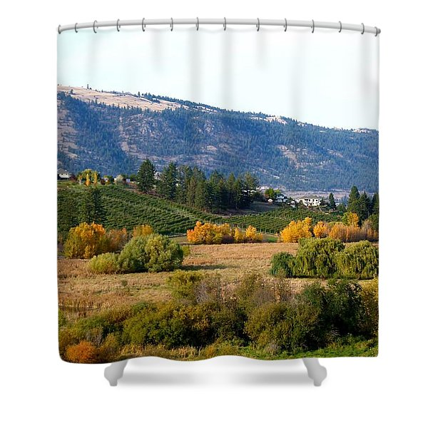 Lake Country Landscape Shower Curtain