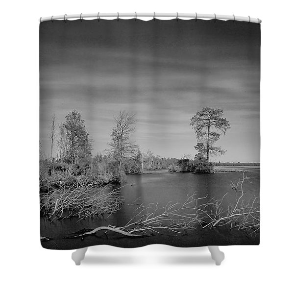 Lake Drummond Shower Curtain