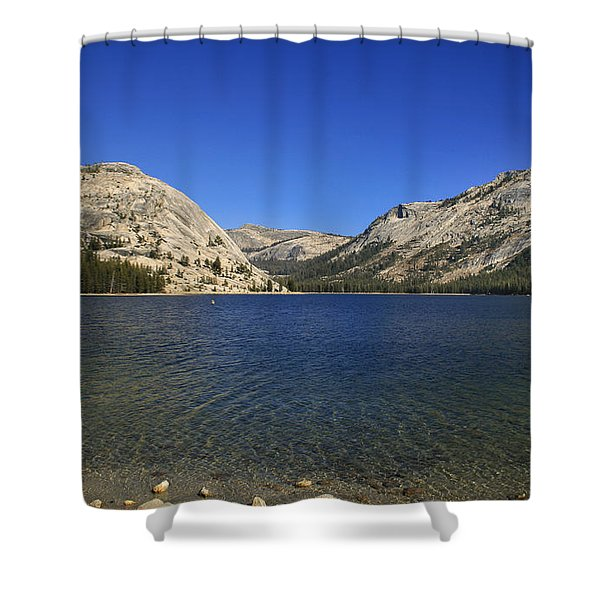 Shower Curtain featuring the photograph Lake Ellery Yosemite by David Millenheft
