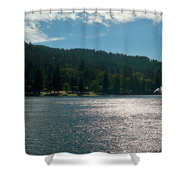 Scenic Lake Photography In Crestline California At Lake Gregory Shower Curtain