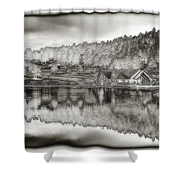 Lake House Reflection Shower Curtain