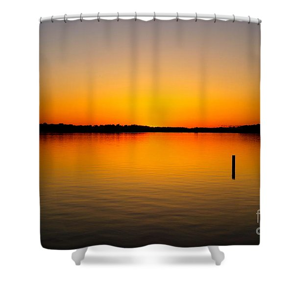 Lake Independence Sunset Shower Curtain