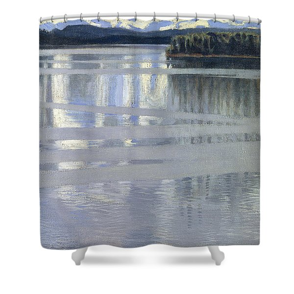 Lake Keitele Shower Curtain