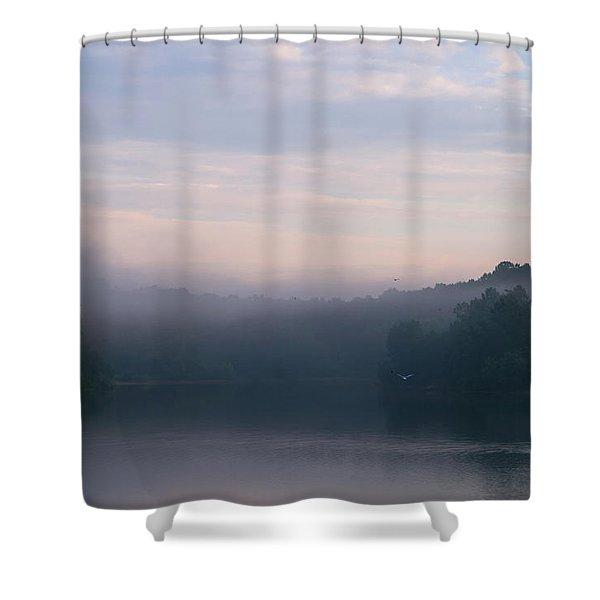 Lake Mohegan Shower Curtain