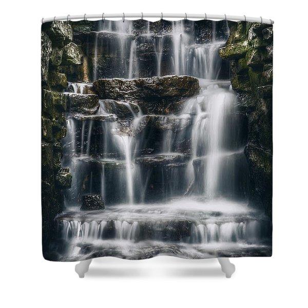 Lake Park Waterfall 2 Shower Curtain