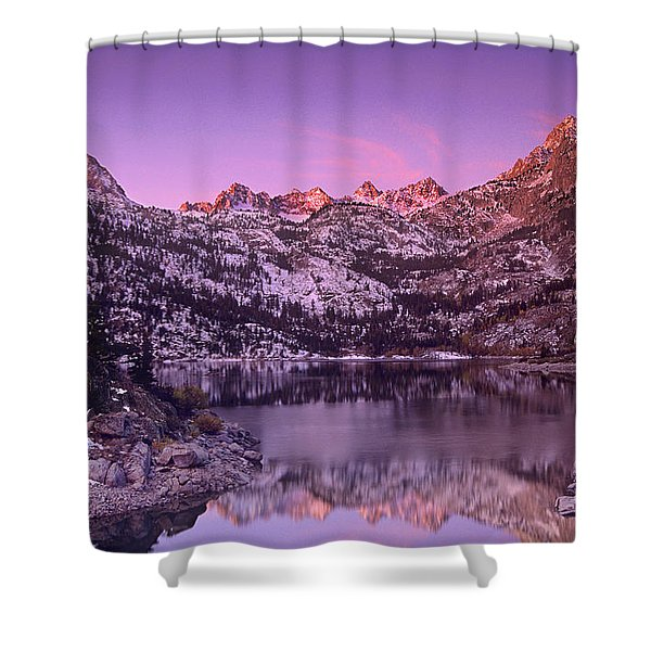 Lake Sabrina Sunrise Eastern Sierras California Shower Curtain