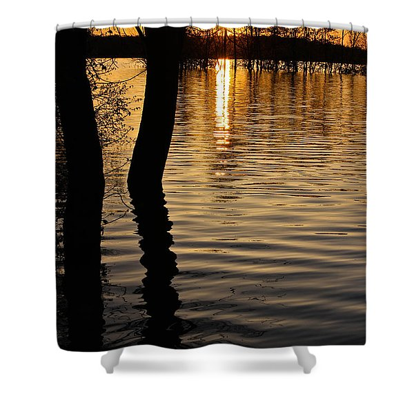 Lake Silhouettes Shower Curtain