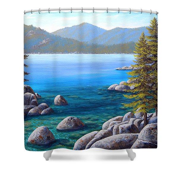 Lake Tahoe Inlet Shower Curtain