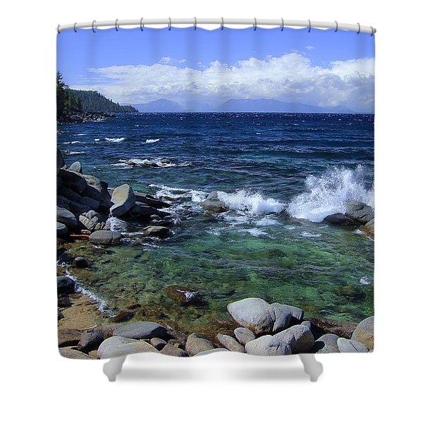 Lake Tahoe Wild  Shower Curtain