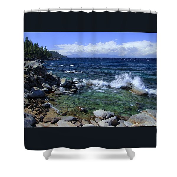 Shower Curtain featuring the photograph Lake Tahoe Wild  by Sean Sarsfield