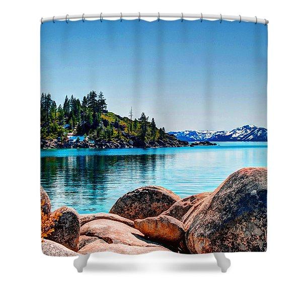 Lake Tahoe Winter Calm Shower Curtain
