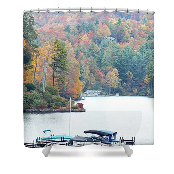 Lake Toxaway In The Fall Shower Curtain