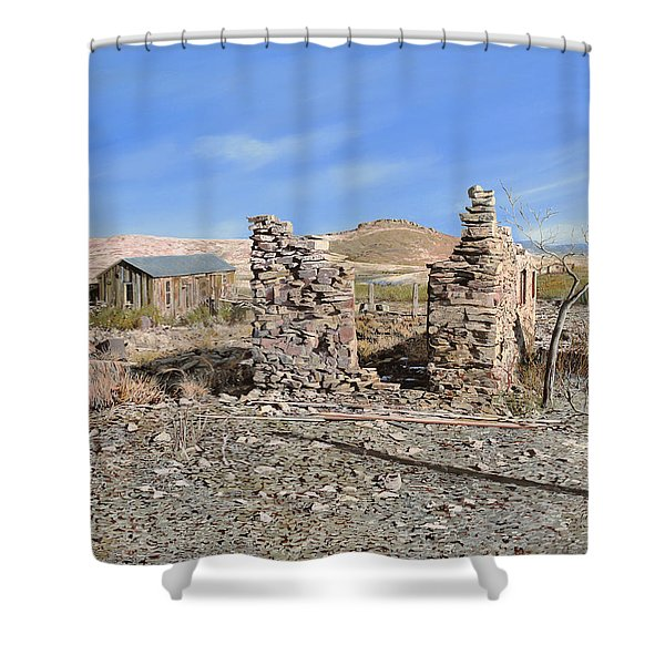 Lake Valley-new Mexico  Shower Curtain