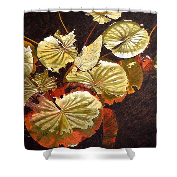 Lake Washington Lily Pad 11 Shower Curtain