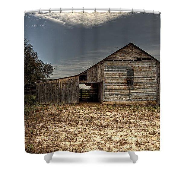 Lake Worth Barn Shower Curtain