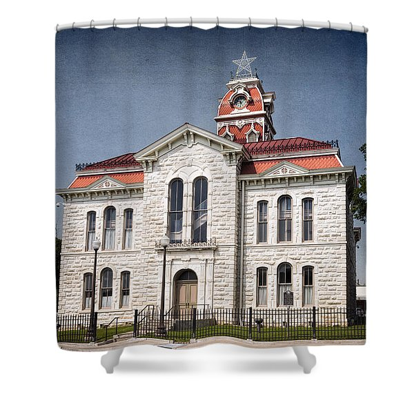 Lampasas County Courthouse Shower Curtain