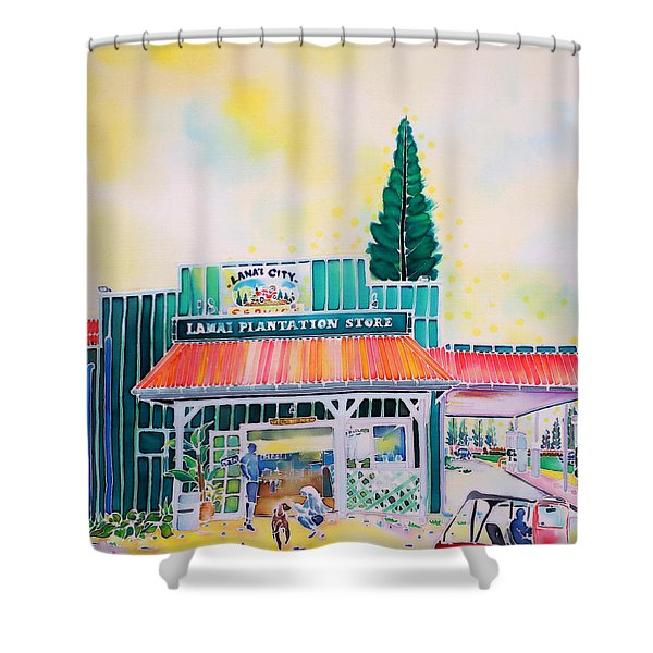 Lanai City Shower Curtain