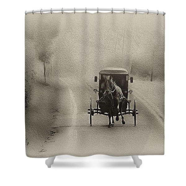 Lancaster County Buggy Ride Shower Curtain