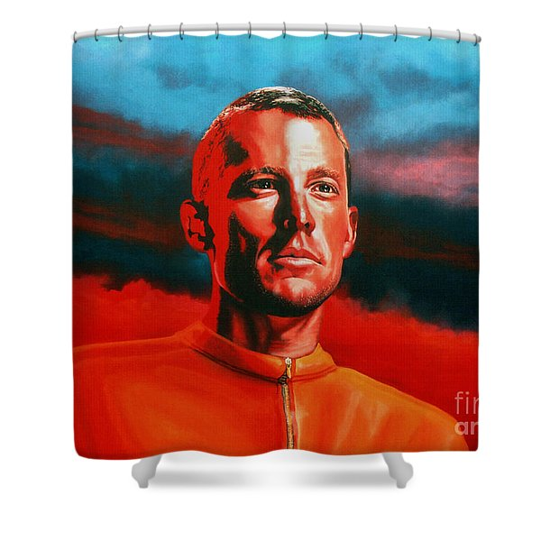 Lance Armstrong 2 Shower Curtain