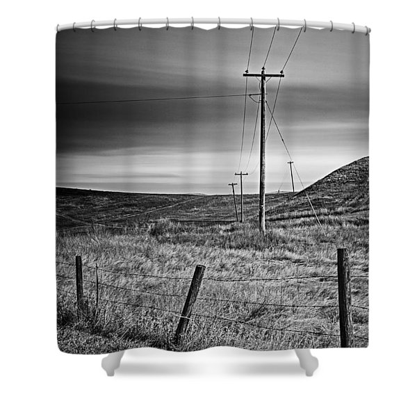 Land Line Shower Curtain