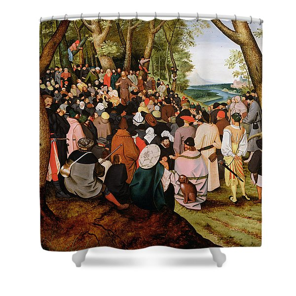 Landscape With Saint John The Baptist Preaching Shower Curtain