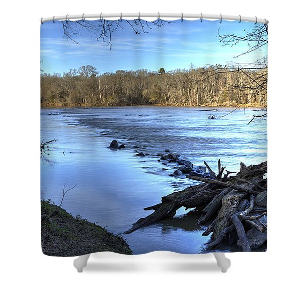 Landsford Canal-1 Shower Curtain