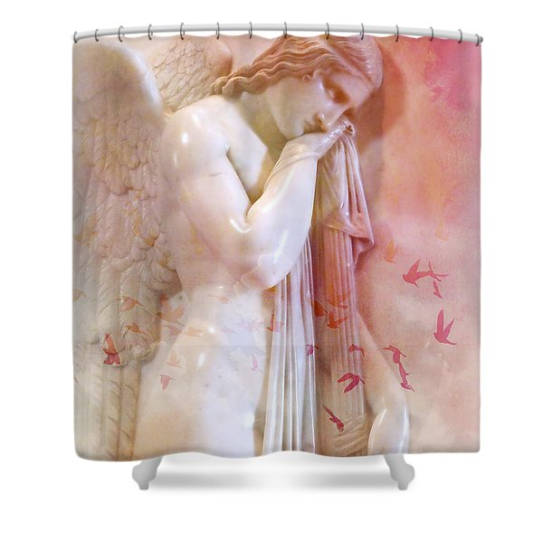 L'angelo Celeste Shower Curtain