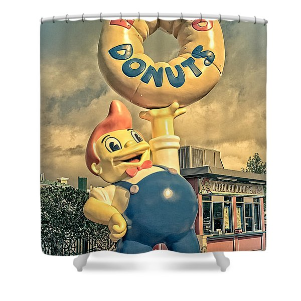 Shower Curtain featuring the photograph Lard Lad Donuts by Edward Fielding