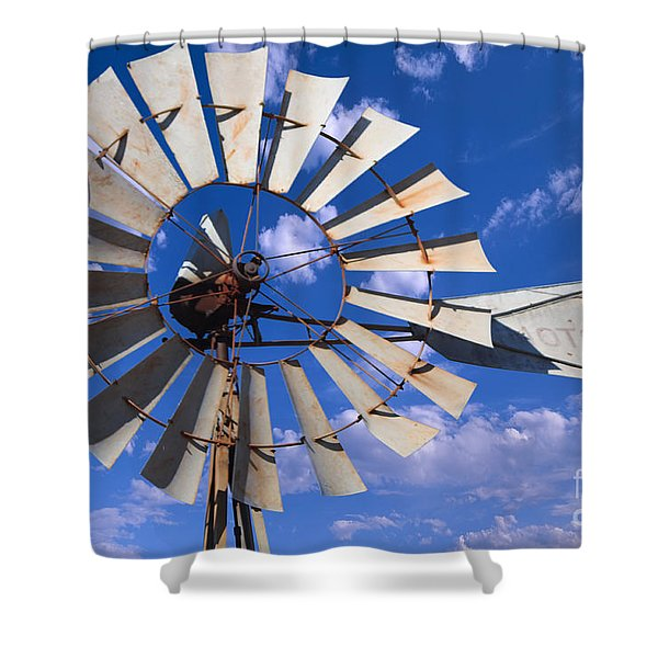 Large Windmill Shower Curtain