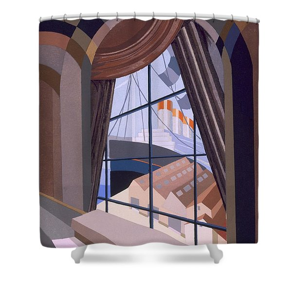 Large Window With A Seat, From Relais Shower Curtain