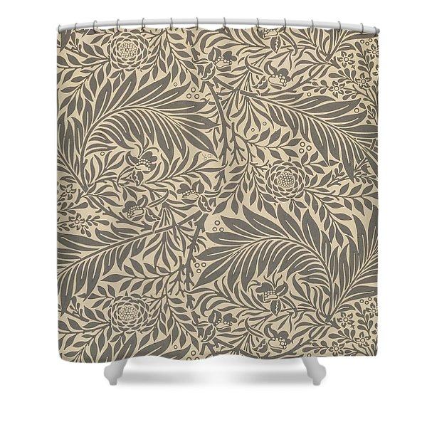 Larkspur Wallpaper Design Shower Curtain