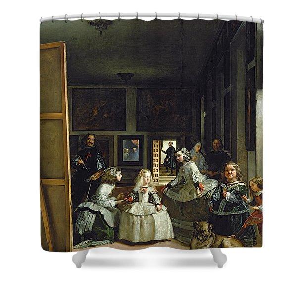 Las Meninas Or The Family Of Philip Iv, C.1656  Shower Curtain
