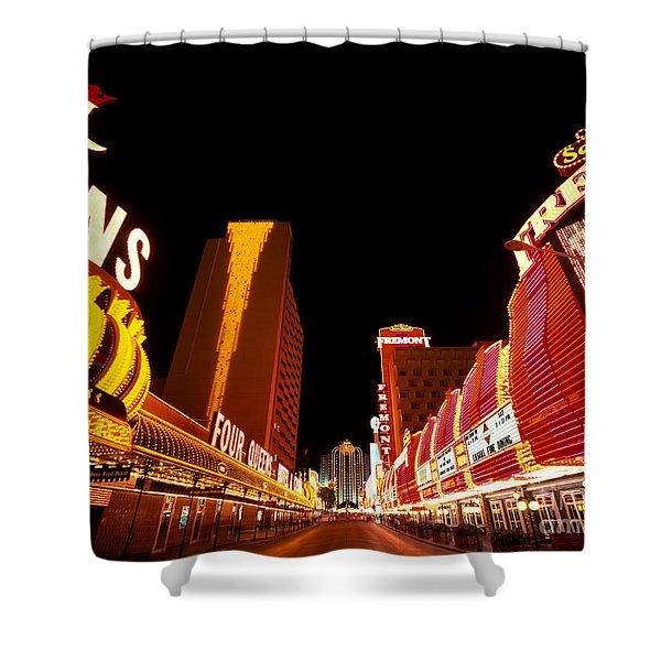 Las Vegas Looking Down Fremont Street Shower Curtain