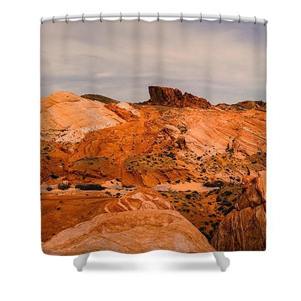 Las Vegas Nevada Mojave Desert Valley Of Fire Panorama Shower Curtain