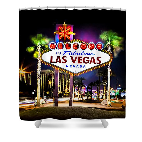 Las Vegas Sign Shower Curtain