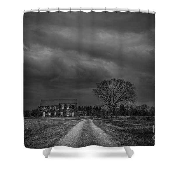 Last House On The Left Bw Shower Curtain