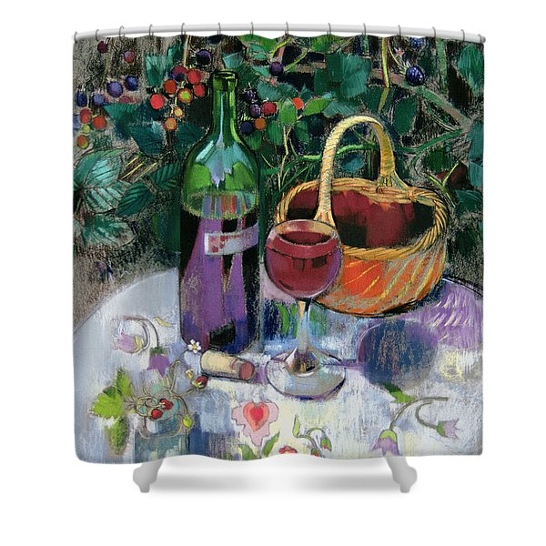 Last Of The Summer Wine Pastel On Paper Shower Curtain