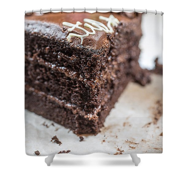 Last Piece Of Chocolate Cake Shower Curtain
