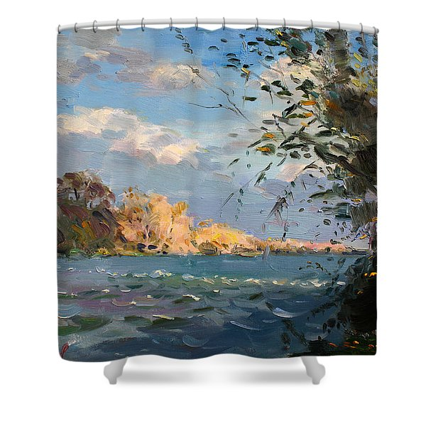 Late Afternoon On Goat Island Shower Curtain