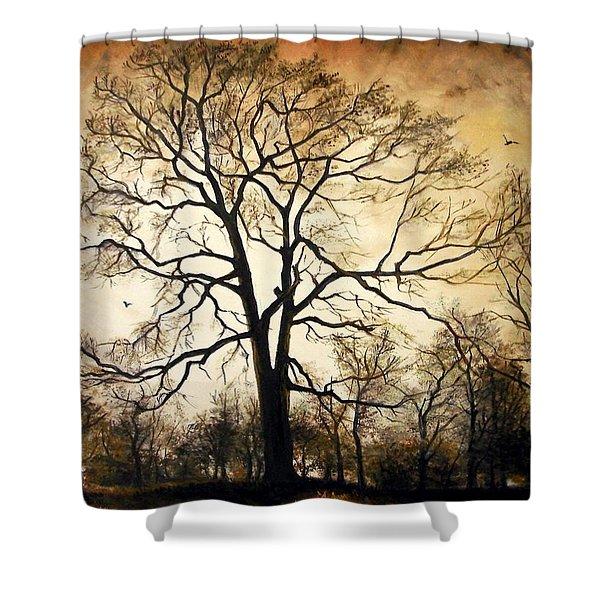Late Autumn Shower Curtain
