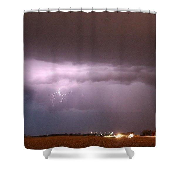 Shower Curtain featuring the photograph Late Evening Nebraska Thunderstorm by NebraskaSC