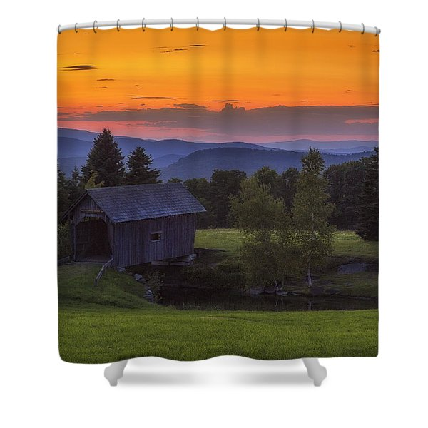 Late Summer Sunset Shower Curtain