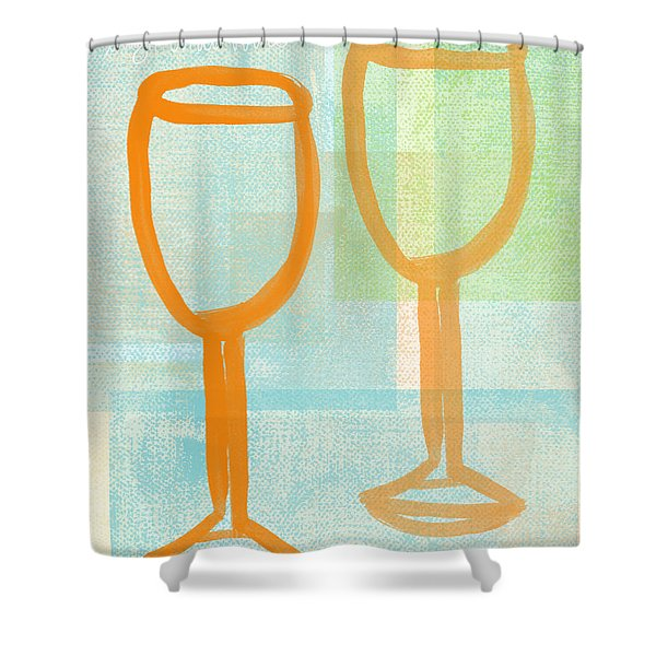 Laugh And Wine Shower Curtain