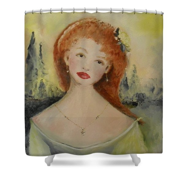 Shower Curtain featuring the painting Laurel by Laurie Lundquist