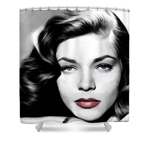 Lauren Bacall Large Size Portrait Shower Curtain