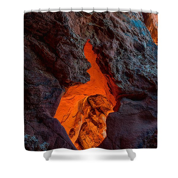 Lava Glow Shower Curtain