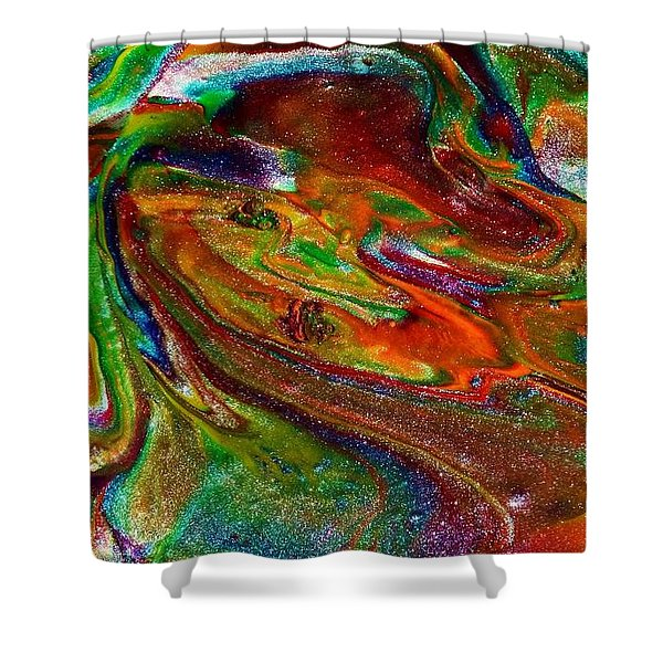 As The World Turns Shower Curtain